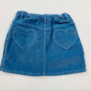 Mini Boden Blue Corduroy Skirt Sz 9-10 Years